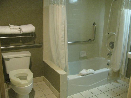 Ramada Costa Mesa/Newport Beach:                   large spacious bathroom