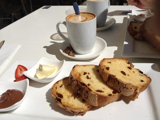 Esca:                   best raisin toast!