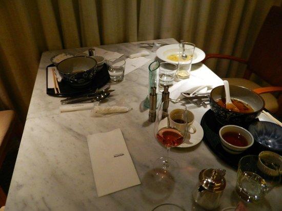 The Westin Miyako Kyoto: 放置されたテーブル