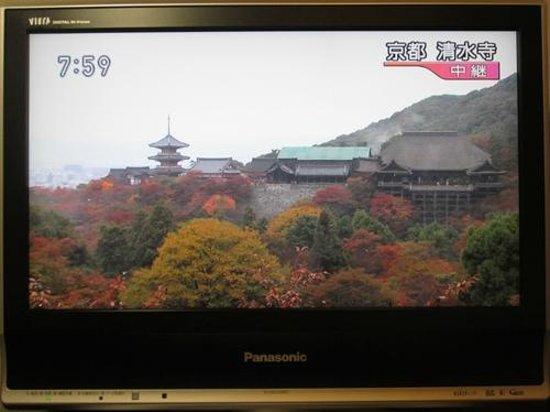 Hotel MyStays Kyoto Shijo: パナソニック VIERA20型 2007年製 まさに見頃を迎えた清水寺