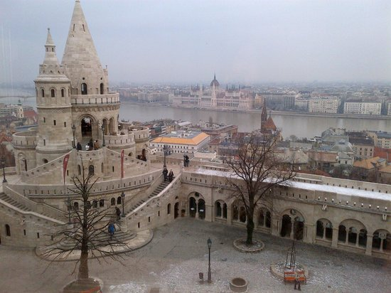 Hilton Budapest - Castle District:                   The view from the room.  It is highly recommended to walk behind the hotel and