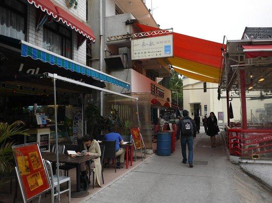 Lamma Island: village streets