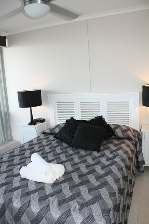 Moorings on Cavill Avenue:                   Main bedroom