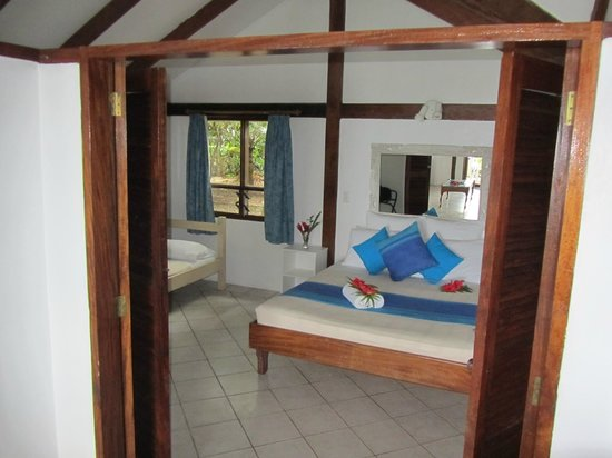 Hideaway Island Resort & Marine Sanctuary:                   Bedroom ocean front bungalow