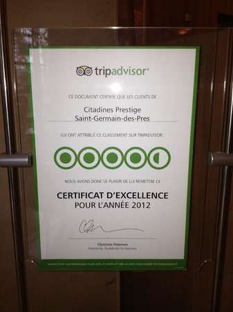 Citadines Saint-Germain-des-Pres Paris: What Tripadvisor says