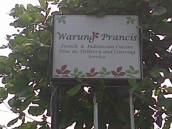 Warung Prancis: Warung Perancis Signboard
