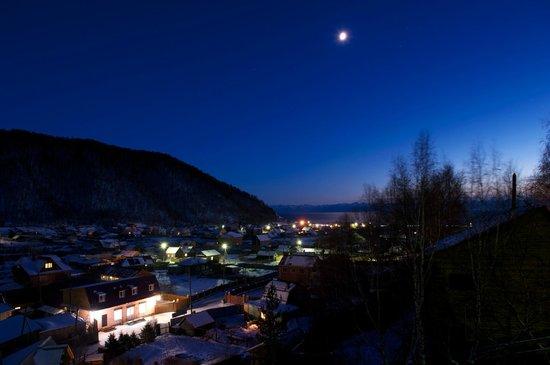 Baikalskye Terema: View from balcony - night
