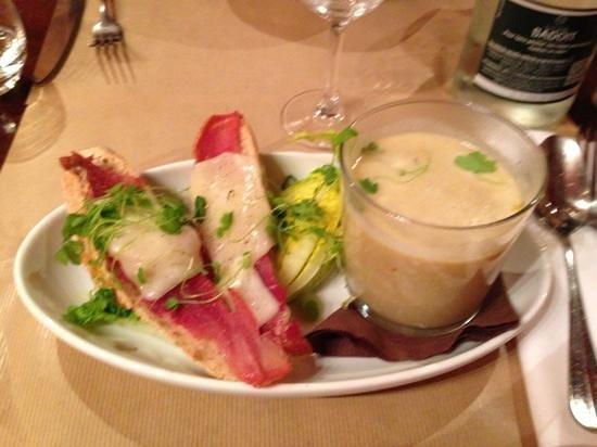 Le Bouchon Bordelais : tartines de bâtonne et tarin