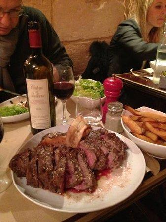 Le Bouchon Bordelais : une côte de bœuf cuite à la perfection