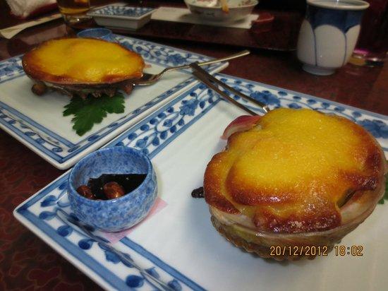 Chikae Fukuoka: baked abalone in mayonnaise