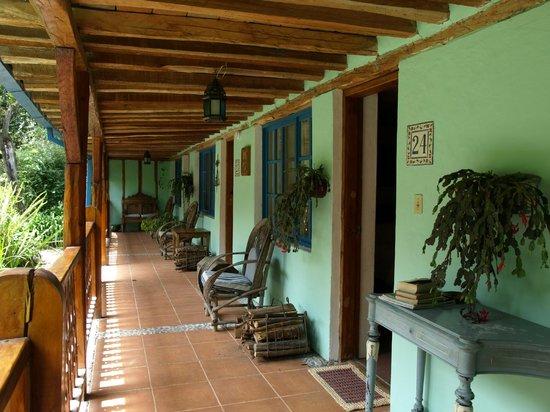 Hacienda Cusin: Dejlig udsigt til haven