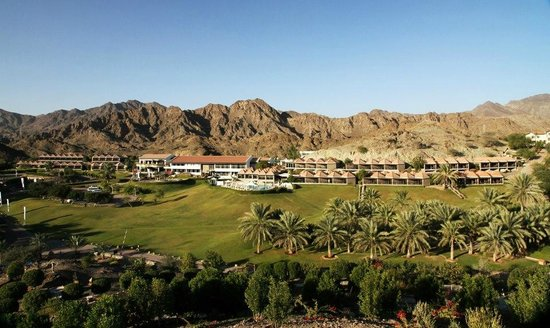 JA Hatta Fort Hotel:                   View from view point