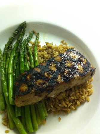 Appalachian Brewing Company:                   ginger honey glazed mahi mahi