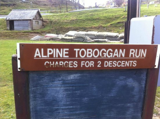 Llandudno Ski Slope: a sign