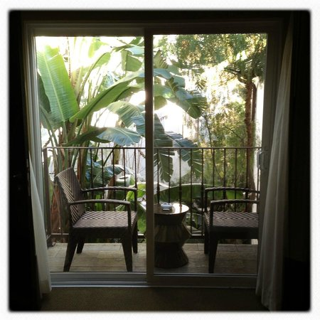 Sunset Marquis:                   View from the bedroom
