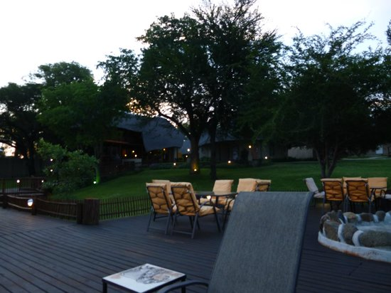 Sabie River Bush Lodge:                   Pool deck