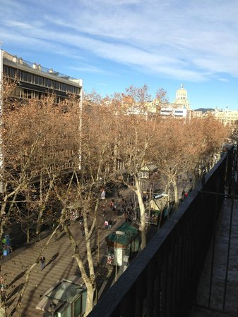 Hotel SERHS Rivoli Rambla:                   view from room