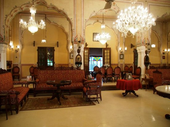 Naila Bagh Palace:                   The incredibly interesting arrival hall