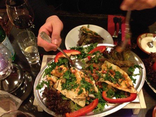 Beirut : Hauptplatte (Fleisch) des kleinen Menüs