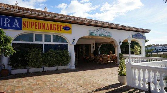 Miel y Nata Mountain:                   The other entré to the restaurant