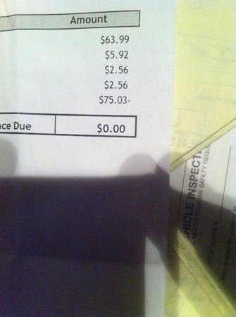 BEST WESTERN Franklin Inn :                   supposed to be 59.00 and charged me 63.99 look at your bill before leaving