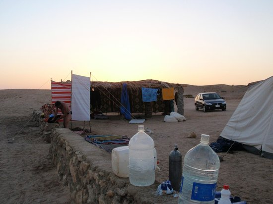 Dahab Divers South Sinai Hotel & Dive center: shower and material tent