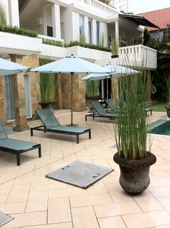 Bali Court Hotel and Apartments:                   tuin