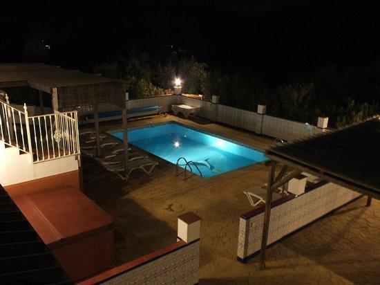Casa Pino Solo: Pool Area At NIght