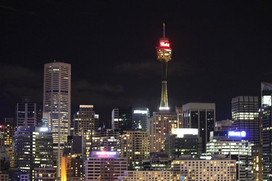 Astral Tower and Residences:                   Sydney Tower by night
