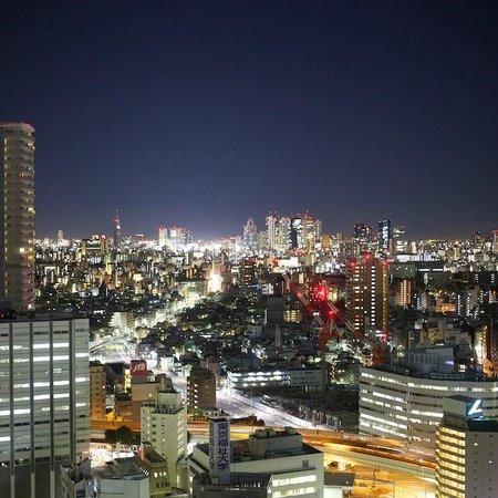 صن شاين سيتي برينس هوتل إيكيبوكورو طوكيو: 新宿側の部屋の夜景 