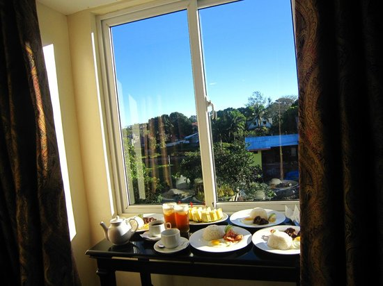 View Park Hotel: View outside with our breakfast