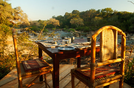 "Bua River Lodge: Breakfast deck at ""Honeymoon Suite"""