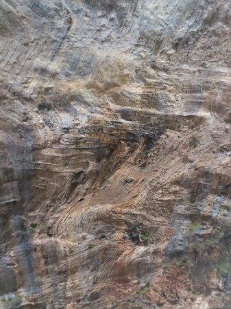 Samaria Gorge National Park:                   2 continents crashed