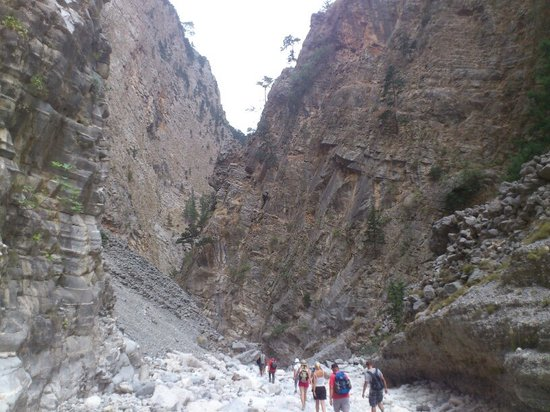 Samaria Gorge National Park:                   see how small is it