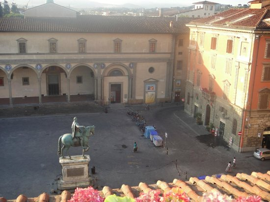 Hotel Loggiato dei Serviti:                   Took this from the balcony of our upgraded room