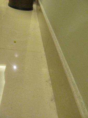 Grand Midwest Tower - Media City: Schmutz und Dreck auf dem Zimmerboden bei Anreise
