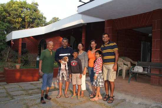 Dwarka:                   A Family Picture after the Homestay (Dilip on left)