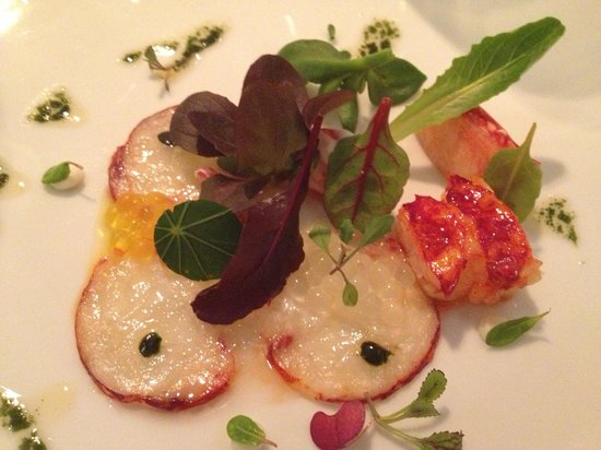 Hotel Arts Barcelona:                   Lobster Carpaccio
