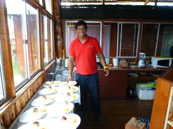 Kaimana Inn Hotel & Restaurant: Nico was our breakfast cook and dinner cook at the restaurant, Gracia Nico!