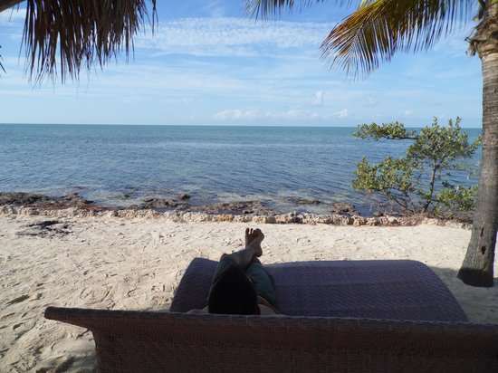 Lime Tree Bay Resort:                   View from the beach/loung chair