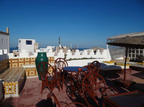 Les Terrasses d'Essaouira : la terrasse ensoleillée