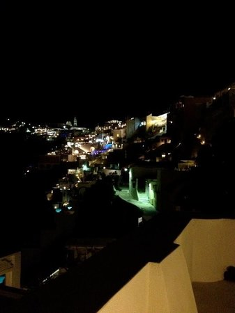 Cori Rigas Suites:                   View from the terrace at night