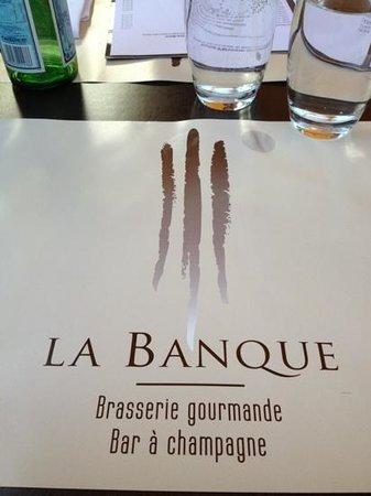 La Banque :                   proper gegeten