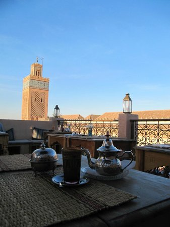 Adam Park Marrakech Hotel  & Spa: Min Tea at the Kasbah cafe rooftop