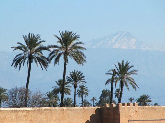 Adam Park Marrakech Hotel  & Spa: The Agdal Gardens and Atlas Mountains in the background