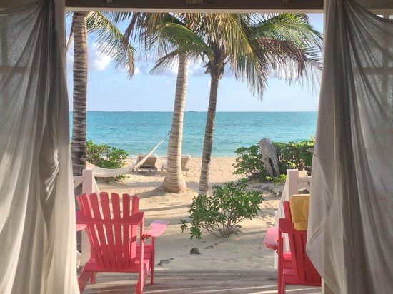 Kamalame Cay:                   View from bed