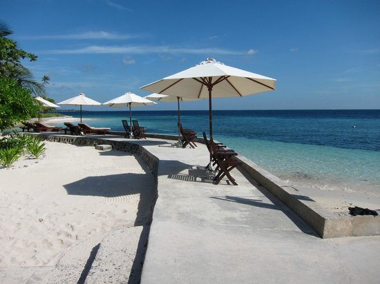 Wakatobi Dive Resort: Outside the longhouse, by the pier