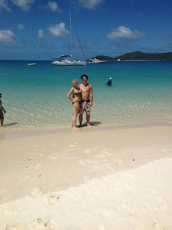Whitehaven Beach:                   Me and my partner enjoying the warm waters