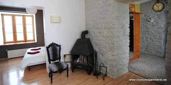 City Style Apartments: 1 bedroom apartment with fireplace