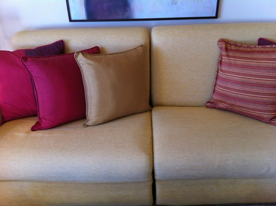 Club La Costa:                   Couch in show apartment, notice the difference?